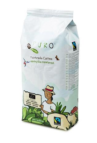 Puro, Fairtrade, Arabica, Bio, Cafea boabe, Cafea boabe Cluj